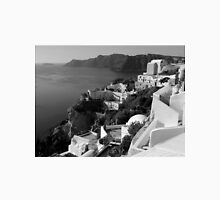 Santorini Cliffs ~ Black & White Unisex T-Shirt