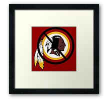 Anti Washington Redskins Framed Print