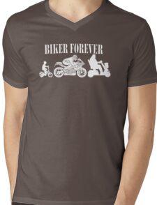 Biker Forever Motorcycle Mens V-Neck T-Shirt