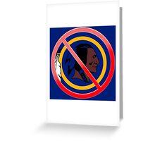 Anti Washington Redskins Greeting Card