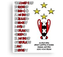 Ajax 1995 Champions League Final Winners Canvas Print