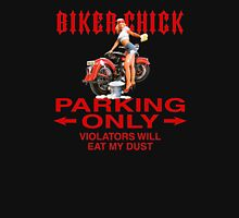 Biker Chick Parking Only Womens Fitted T-Shirt