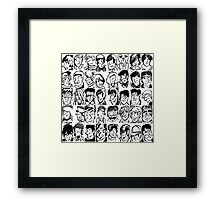 Face Collage  Framed Print