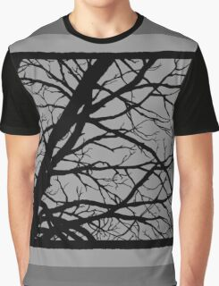 Silver Grey Tree Graphic T-Shirt