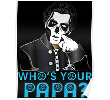 PAPA III - blue letters Poster