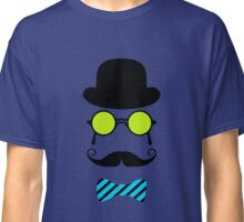 Hipster Mustache disguise trendy retro vintage graphic Classic T-Shirt