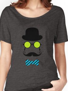 Hipster Mustache disguise trendy retro vintage graphic Women's Relaxed Fit T-Shirt