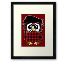 Owl Hipster 2 Framed Print