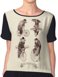 Bears on Bicycles Chiffon Top