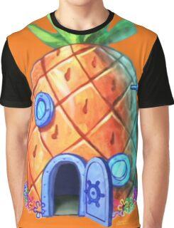 Spongbob Home Sweet Home Graphic T-Shirt