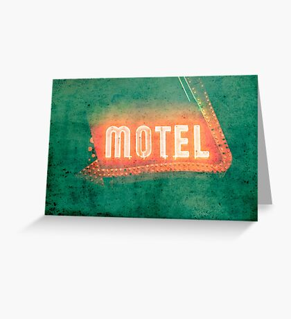 Old Motel Greeting Card