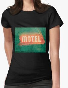 Old Motel Womens Fitted T-Shirt