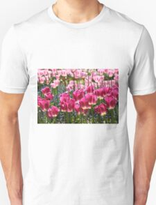 Fields of Pink Tulips T-Shirt