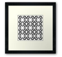 Retro circle Framed Print