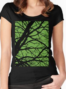 Earth Lime GreenTree Women's Fitted Scoop T-Shirt