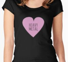 HEAVY METAL LOVE Women's Fitted Scoop T-Shirt
