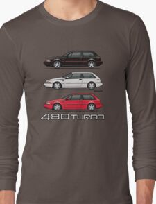 Stack of Volvo 480 Turbos Long Sleeve T-Shirt
