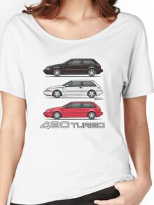 Stack of Volvo 480 Turbos Women's Relaxed Fit T-Shirt