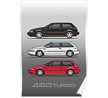 Stack of Volvo 480 Turbos Poster