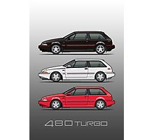 Stack of Volvo 480 Turbos Photographic Print