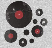 Vintage Vinyl Records Music DJ inspired design One Piece - Short Sleeve