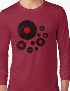 Vintage Vinyl Records Music DJ inspired design Long Sleeve T-Shirt