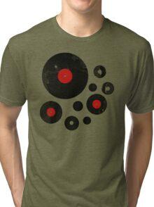 Vintage Vinyl Records Music DJ inspired design Tri-blend T-Shirt