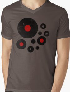 Vintage Vinyl Records Music DJ inspired design Mens V-Neck T-Shirt