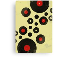 Vintage Vinyl Records Music DJ inspired design Canvas Print