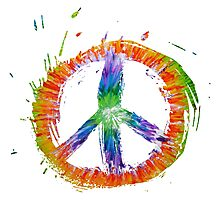 Tie Dye peace Photographic Print
