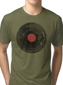 Vinyl Record Vintage Grunge Retro Tri-blend T-Shirt
