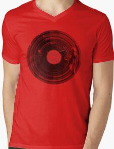 Vinyl Record Vintage Grunge Retro Mens V-Neck T-Shirt
