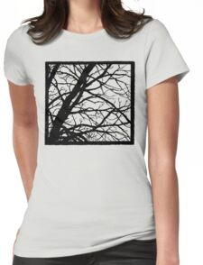Tree Shadow Womens Fitted T-Shirt