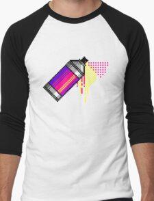 Spray paint - Pink Men's Baseball ¾ T-Shirt