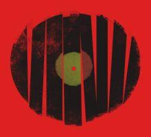 Cool Broken Vinyl Record Grunge Vintage Kids Tee