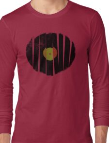 Cool Broken Vinyl Record Grunge Vintage Long Sleeve T-Shirt