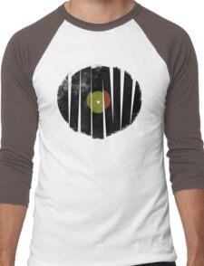 Cool Broken Vinyl Record Grunge Vintage Men's Baseball ¾ T-Shirt