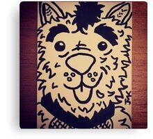 Puppy Rock Canvas Print