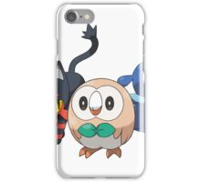 Pokemon Alola Starters Rowlet Littin Popplio iPhone Case/Skin