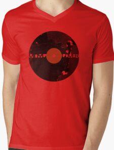 Vinyl Records Lover - Grunge Vinyl Record Mens V-Neck T-Shirt