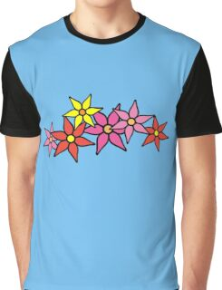 Cute and Colorful Blossoms Graphic T-Shirt