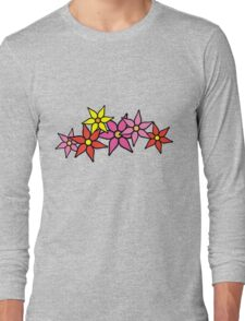 Cute and Colorful Blossoms Long Sleeve T-Shirt