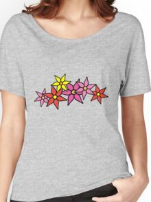 Cute and Colorful Blossoms Women's Relaxed Fit T-Shirt
