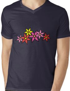 Cute and Colorful Blossoms Mens V-Neck T-Shirt