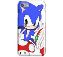 The hedgehog and the champigñon iPhone Case/Skin