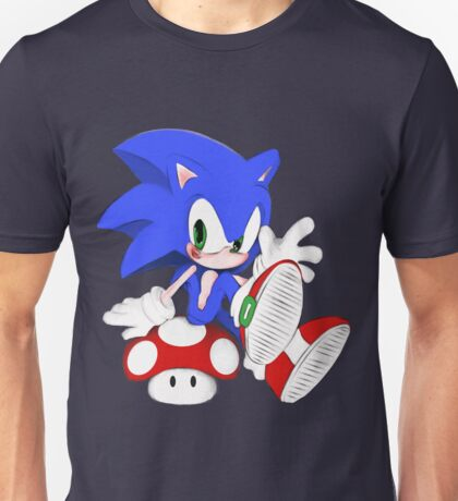 The hedgehog and the champigñon Unisex T-Shirt