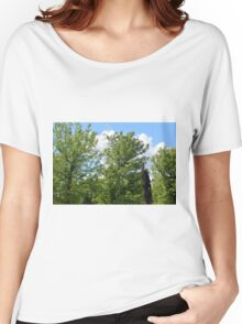 Green trees in the park. Women's Relaxed Fit T-Shirt