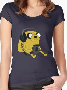 JAKE THE DOG Women's Fitted Scoop T-Shirt
