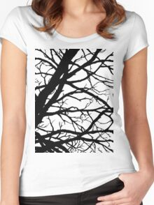 Dark Pink Lavender Tree Women's Fitted Scoop T-Shirt