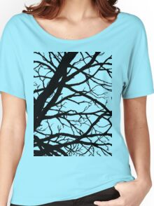 Dark Pink Lavender Tree Women's Relaxed Fit T-Shirt